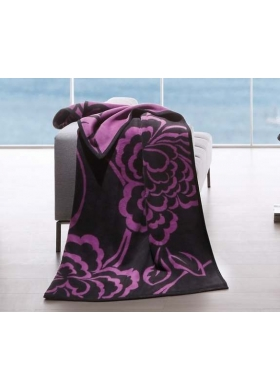 PURPLE FLOWER PLAID THERMOSOFT TOP