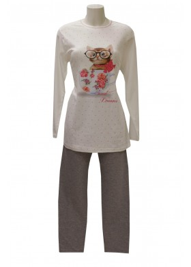 SWEET DREAMS PIGIAMA CON LEGGINGS IN COTONE INTERLOCK